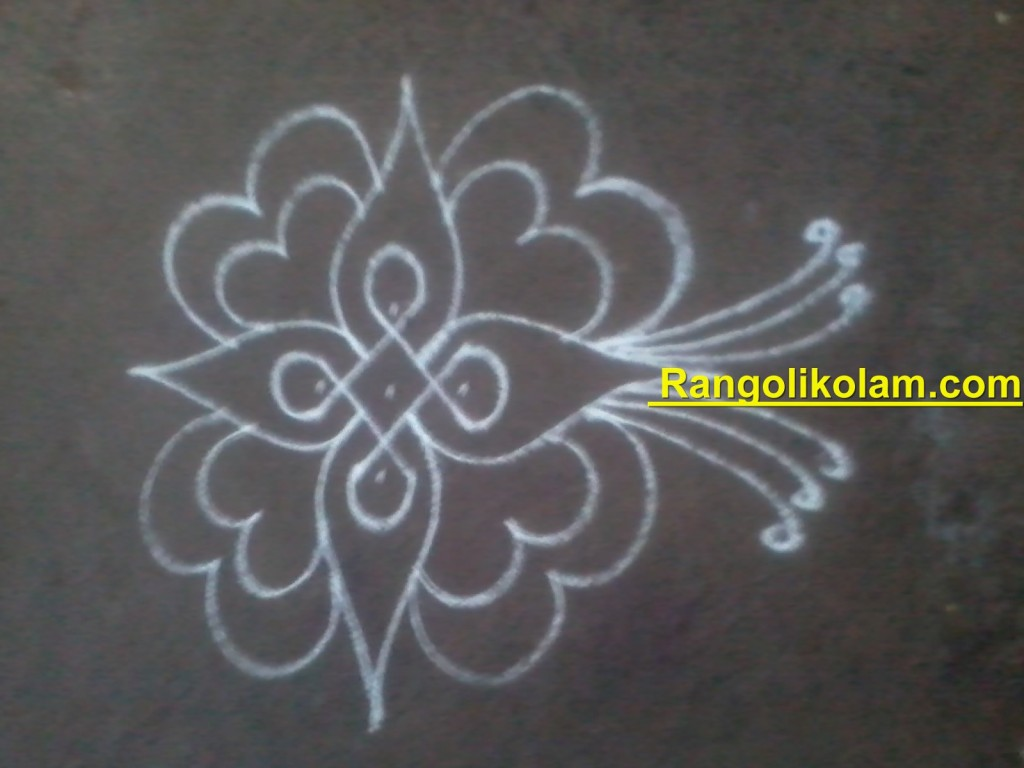 flower kolam step10
