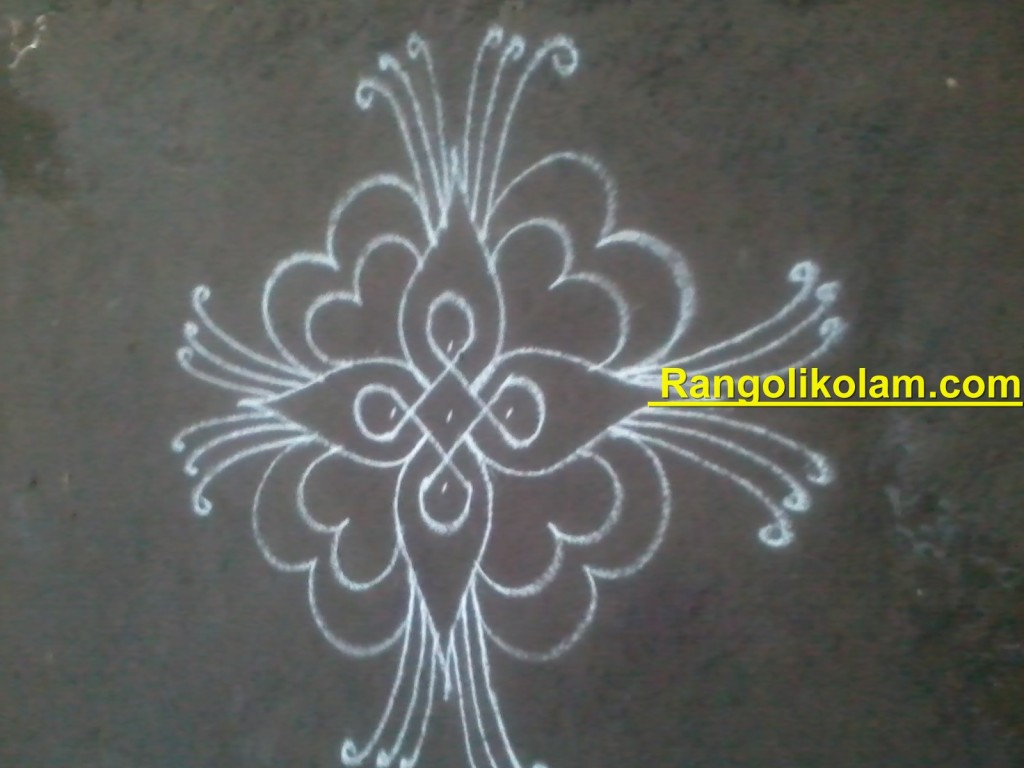 flower kolam step11