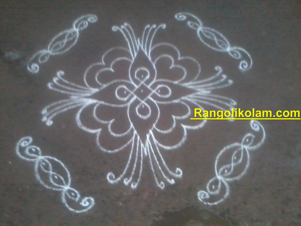 flower kolam step12