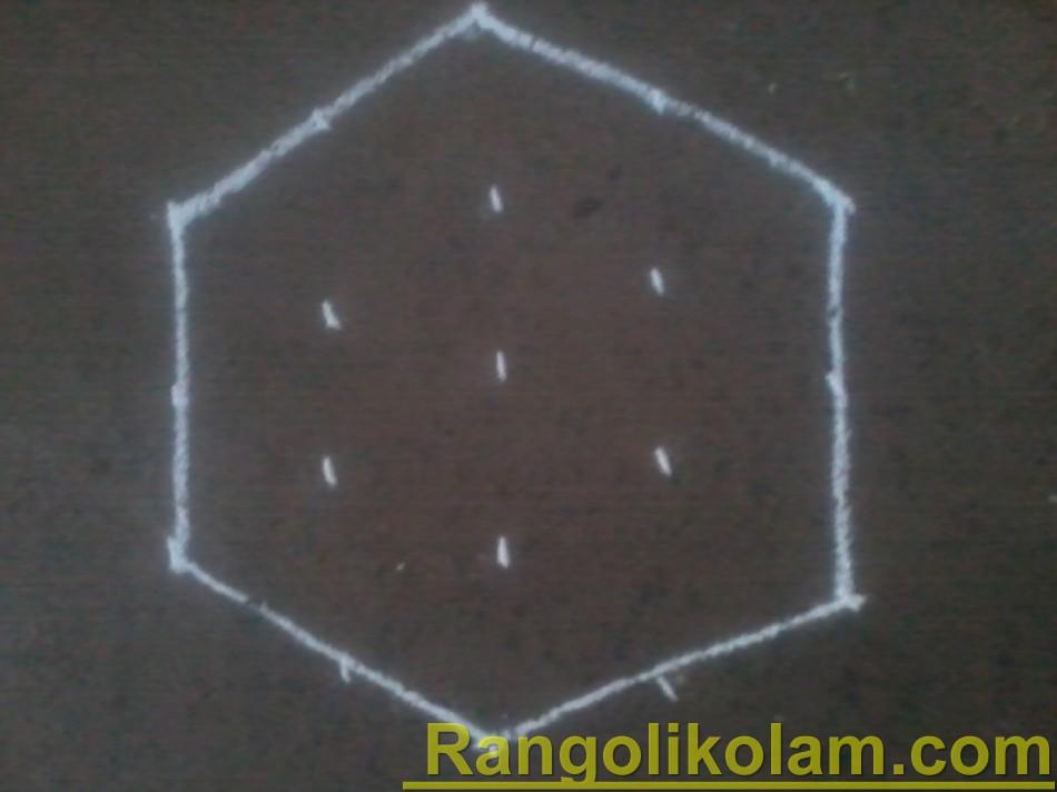 Diamond kolam step2
