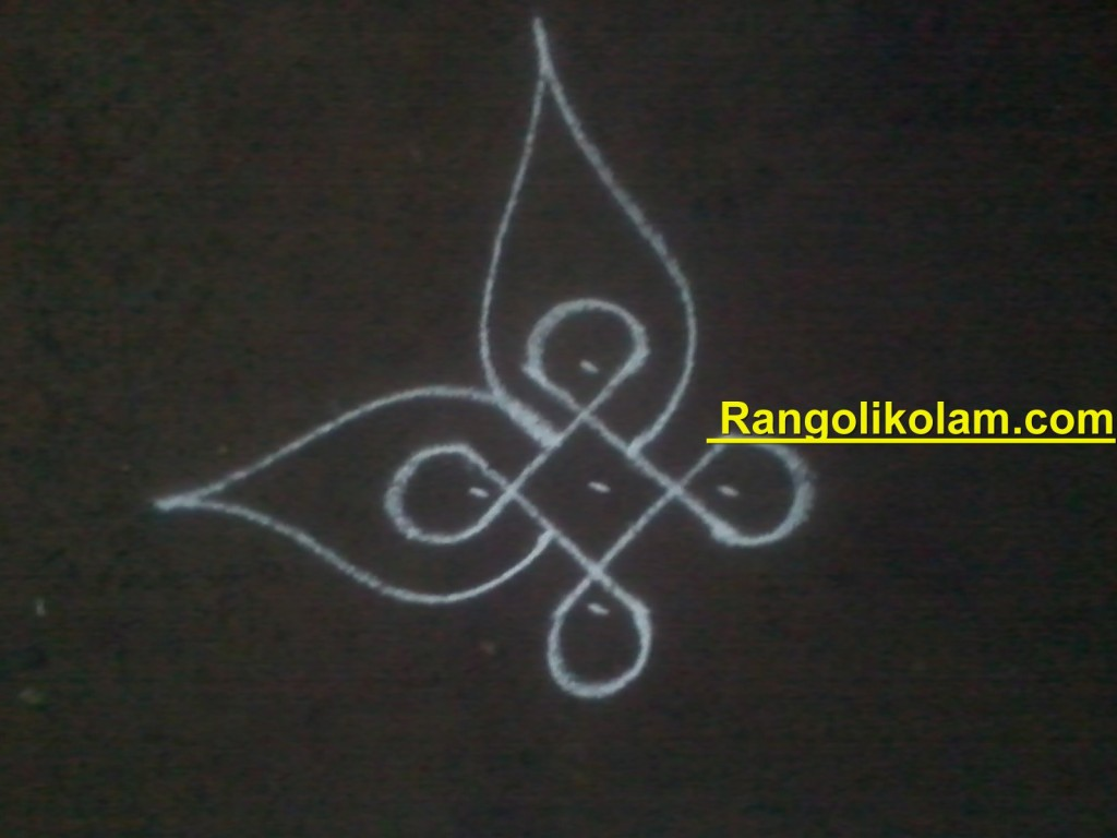 flower kolam step4