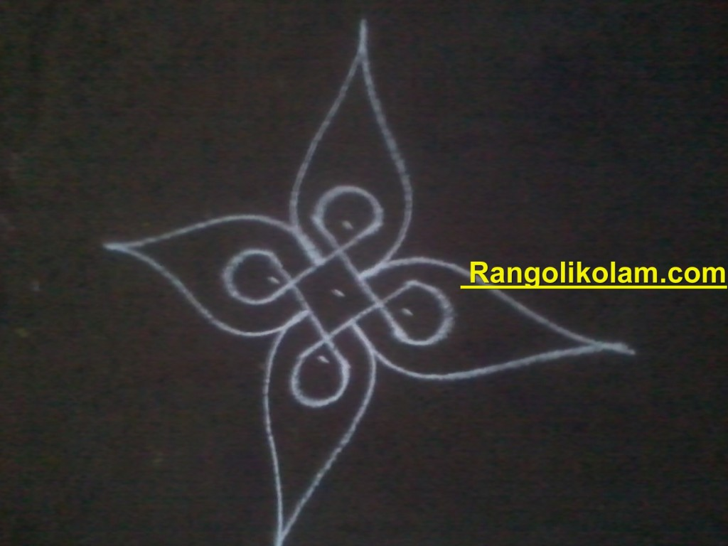 flower kolam step5