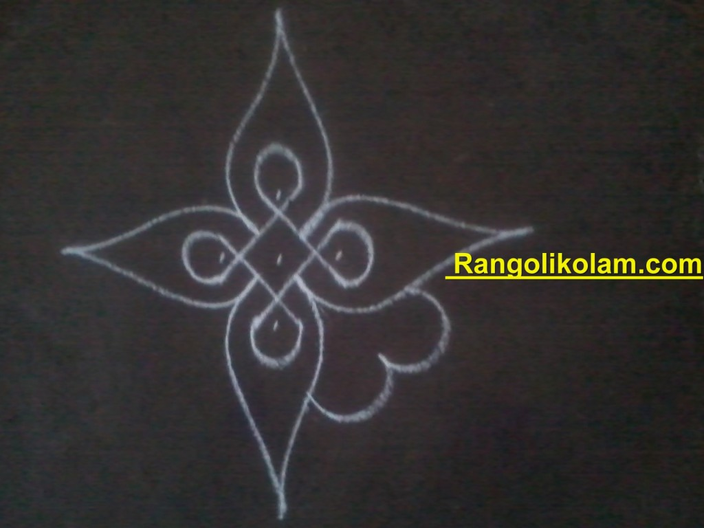 flower kolam step6