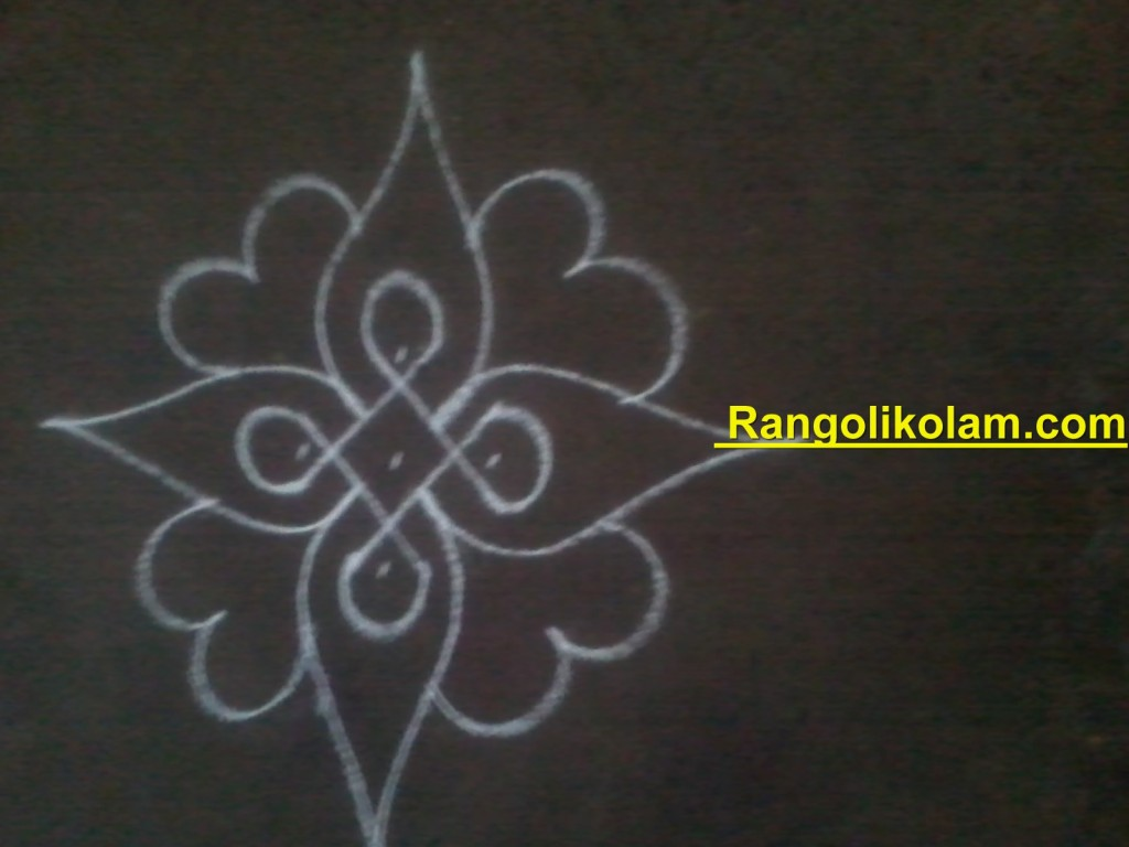 flower kolam step7