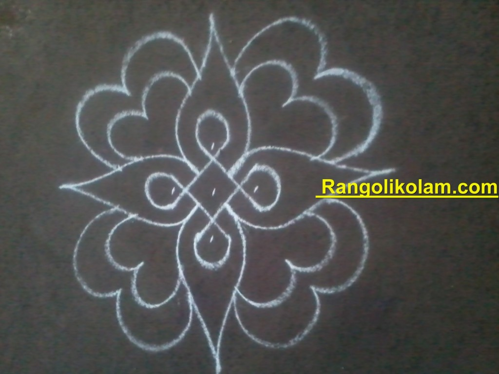 flower kolam step8