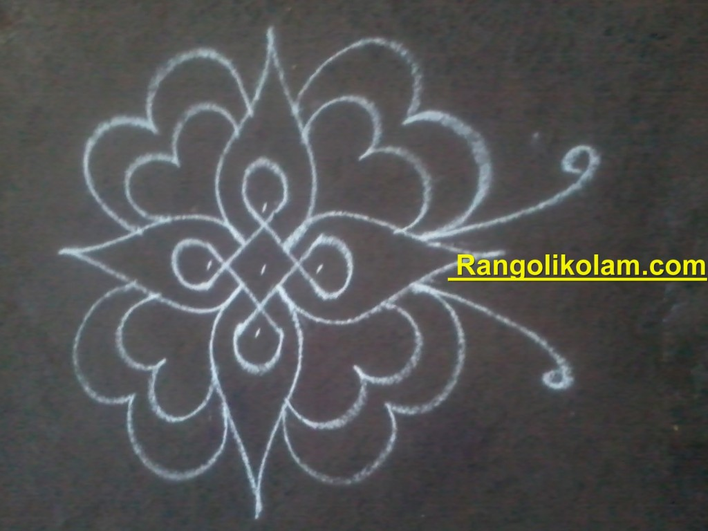 flower kolam step9