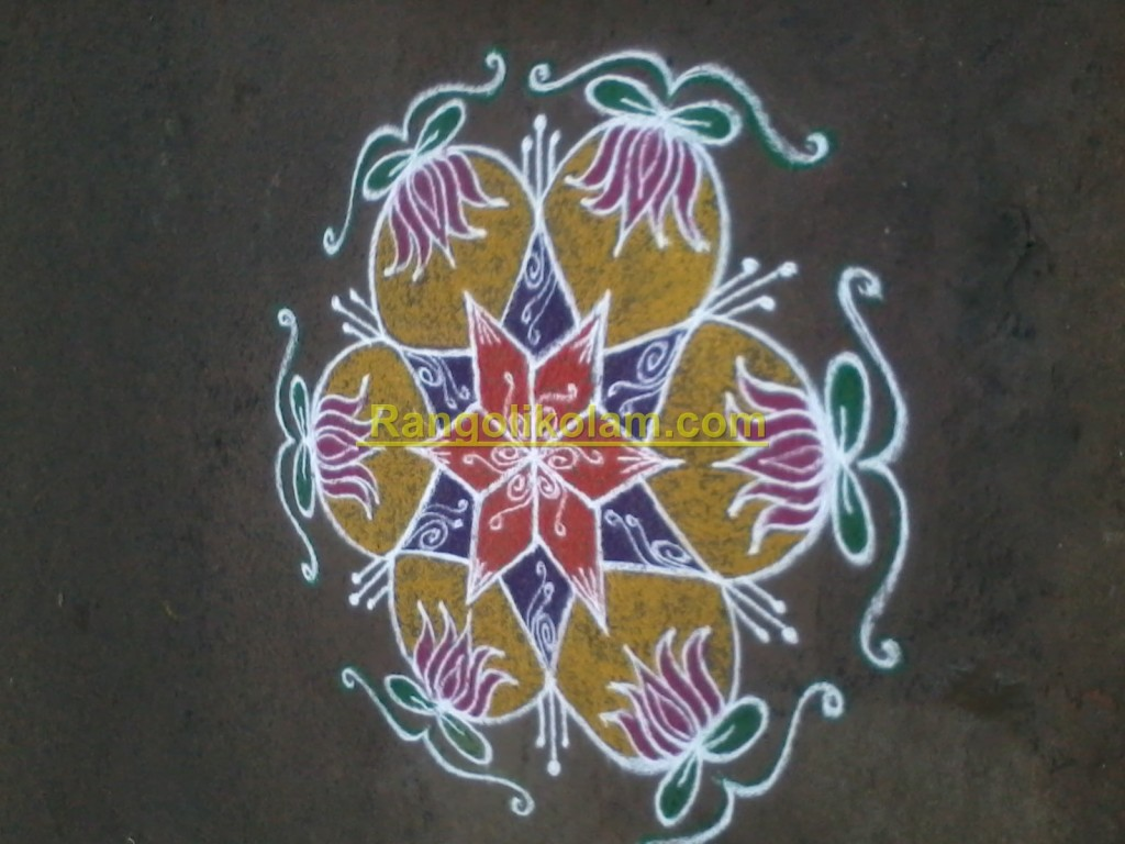 Star with lotus kolam