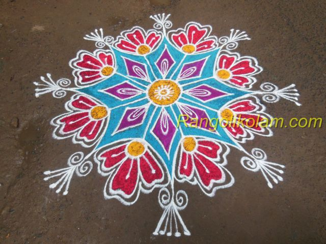 Design flower kolam