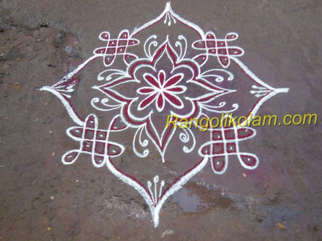 White design kolam