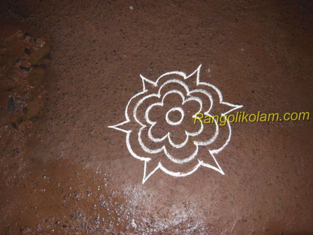 Flower  colour kolam