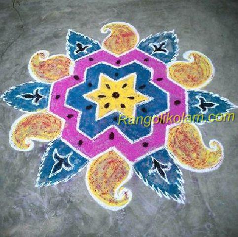 star with maa kolam