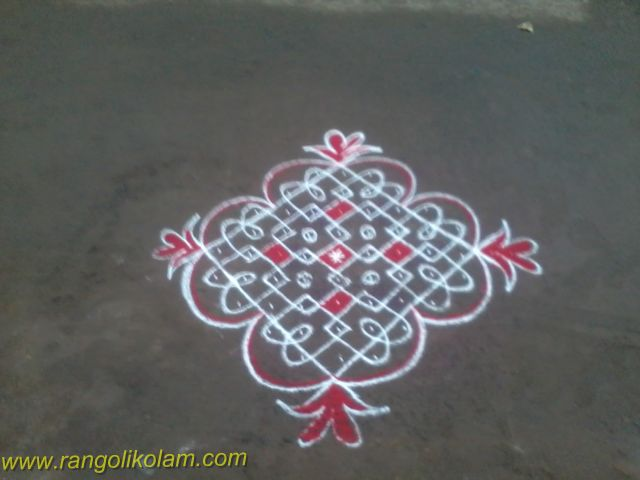 Simple sikku kolam design (11)