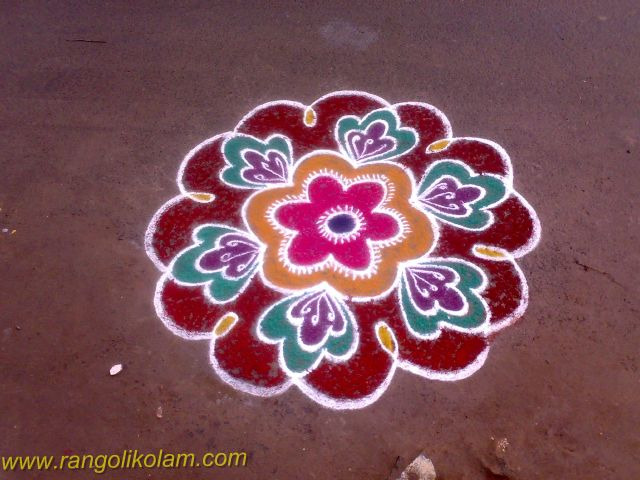Flower kolam design