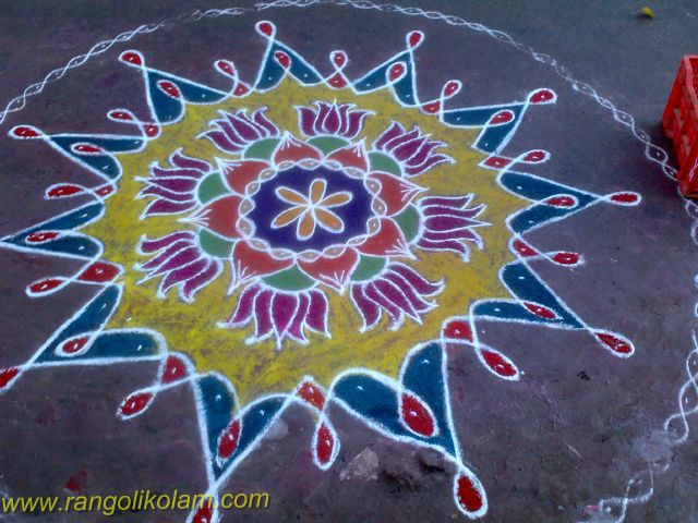 Rangolikolam design