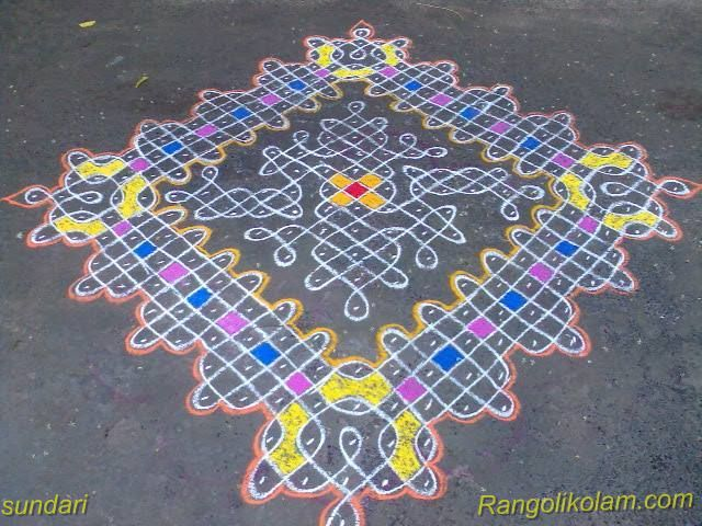 sikku colour kolam
