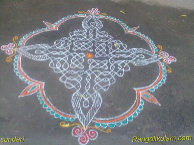sikku colour kolam