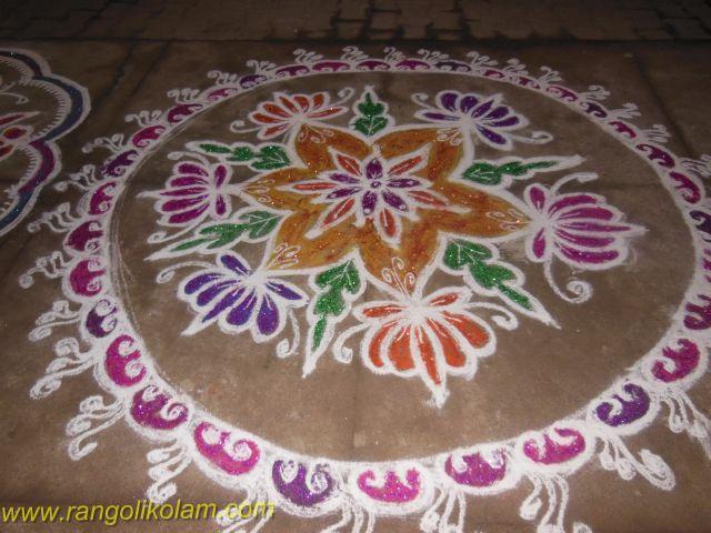 Flower rangolikolam