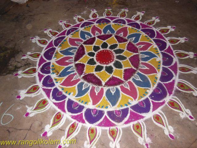 Rangolikolam in adyar competition