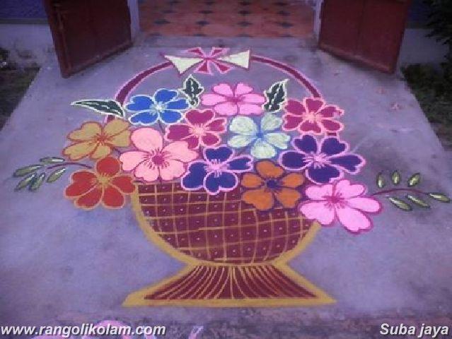 Flower pot kolam