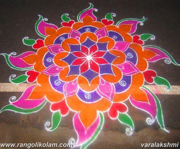 colour full rangolikolam