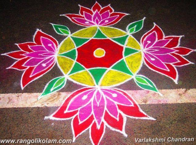 Varlakshmi Chandran kolam, rangolikolam,colour kolam, flower kolam, without dot kolam,different kolam