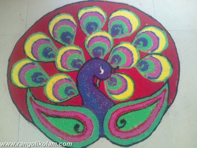Peacock Rangolikolam