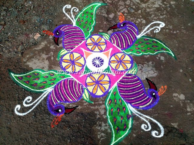 Independance day kolam