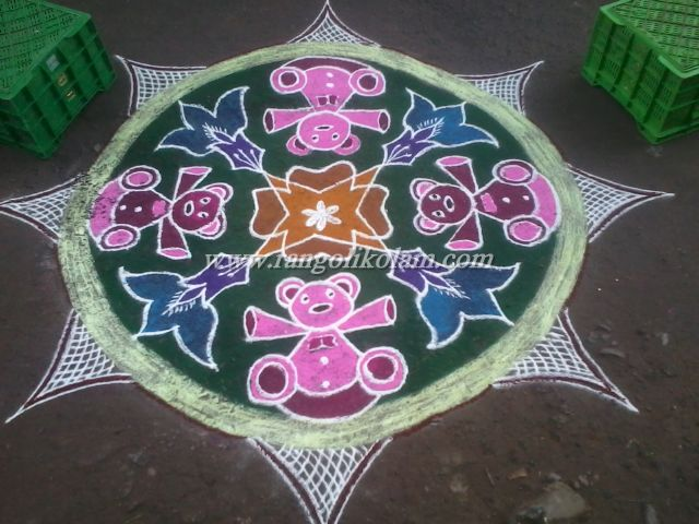 Teddy bear kolam