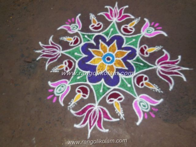 Saraswathi pooja festival kolam