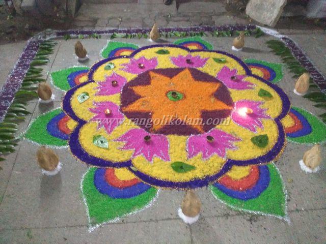 Saraswathi pooja special kolam