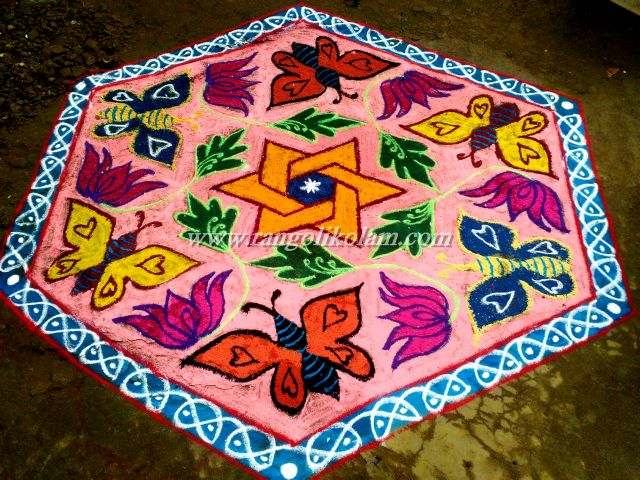 butterfly dotted kolam 21-10 on margazhi (2)