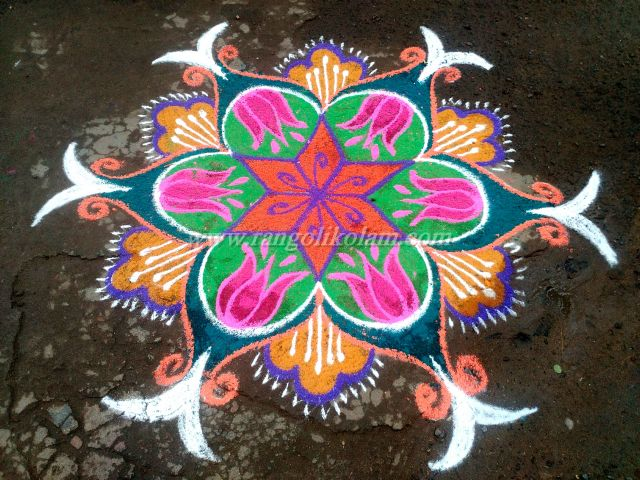 Morning kolam
