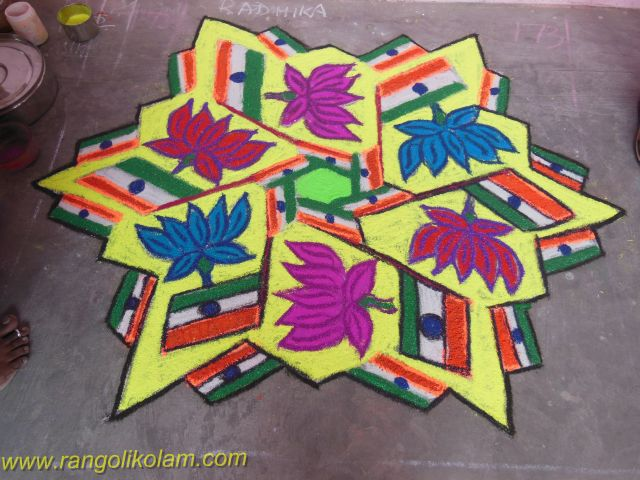 national flag kolam