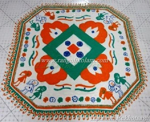 republic day kolam design