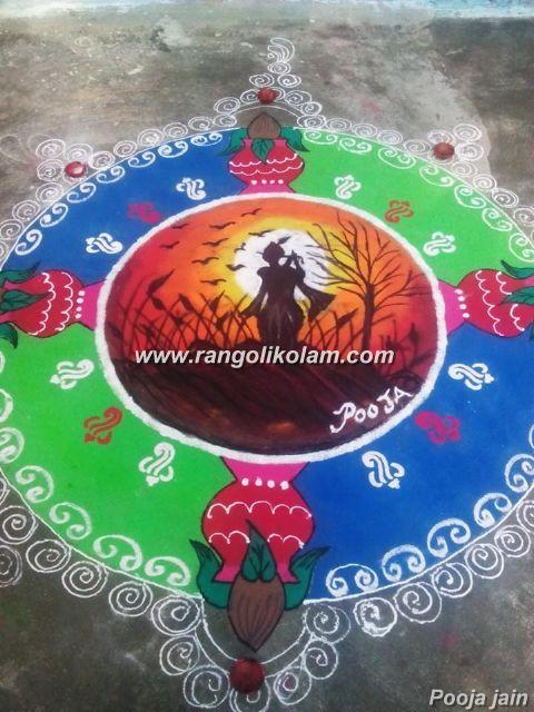 Rangoli art kolam
