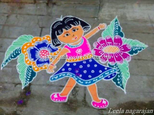 cartoon kolam 2