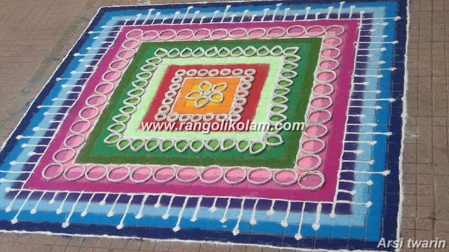 colourfull mat kolam