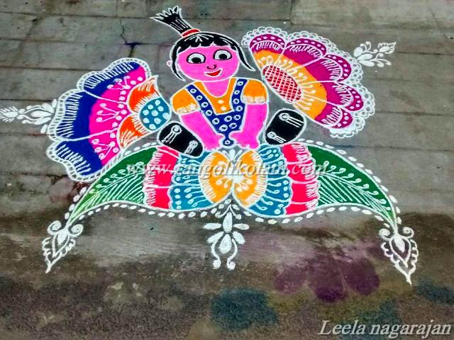 womens day kolam