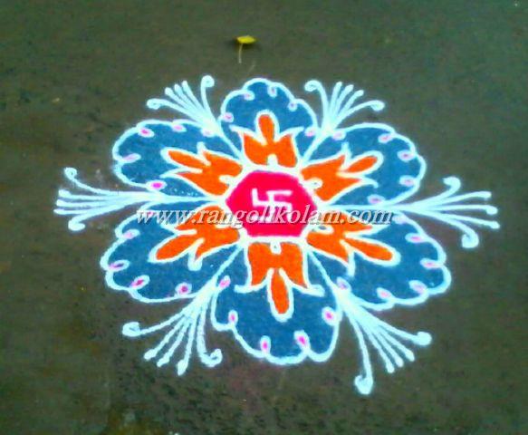Flower kolam 6