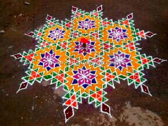 Star colour kolam2