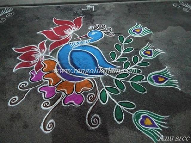 peacock kolam AS4