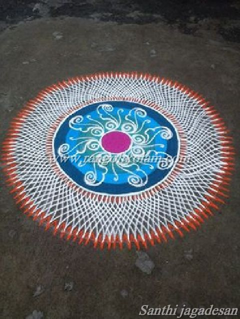 Colour kolam 4