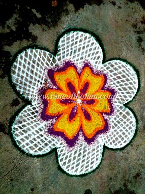 Flower kolam 628