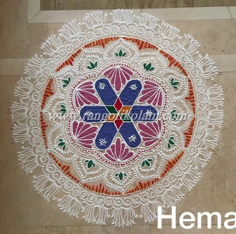 freehand kolam for lord siva