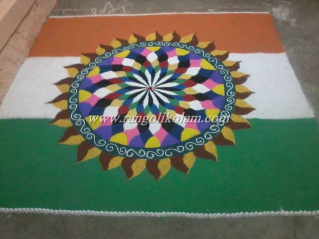 independance day kolam 1