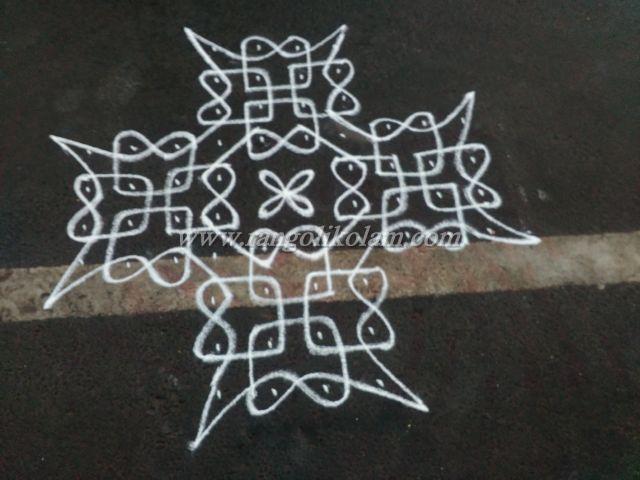 sikku-kolam-with-dots-8