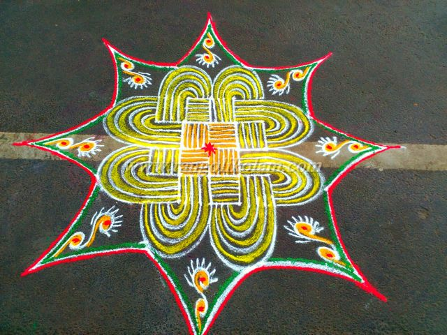 yellow-kolam