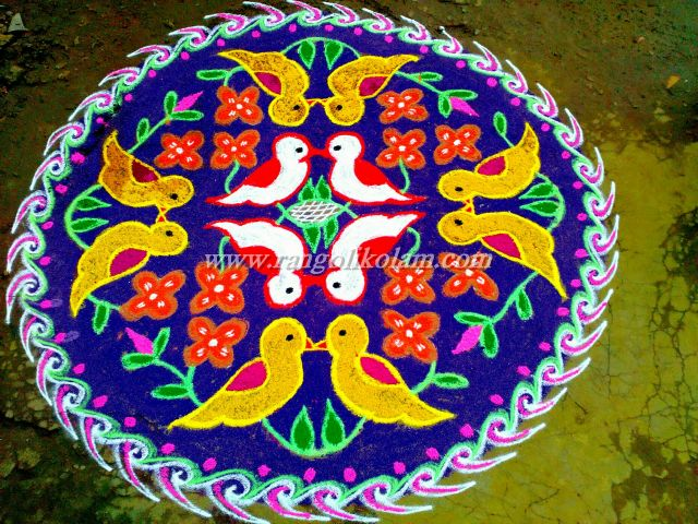 ove birds doted kolam