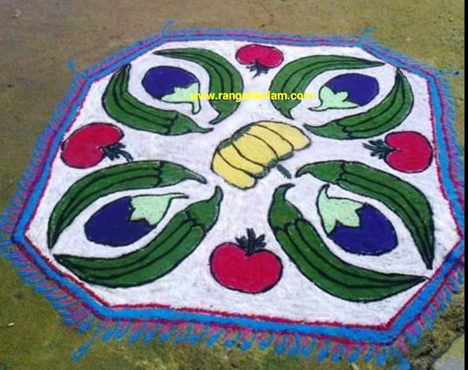 Vegetables kolam